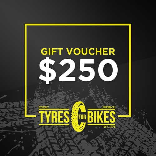 $250 Tyres For Bikes Gift Voucher